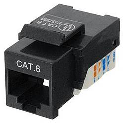 Ziotek CAT6 Network (RJ45) Keystone Jack, Tool-Free, Black ZT1800321
