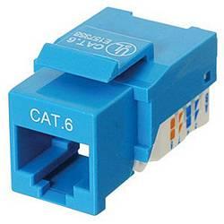 Ziotek CAT6 Network (RJ45) Keystone Jack, Tool-Free, Blue ZT1800322
