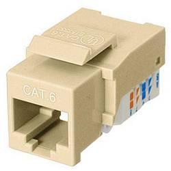 Ziotek CAT6 RJ45 Keystone Jack Tool-Free Beige ZT1800324