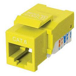 Ziotek CAT6 Network (RJ45) Keystone Jack, Tool-Free, Yellow ZT1800327
