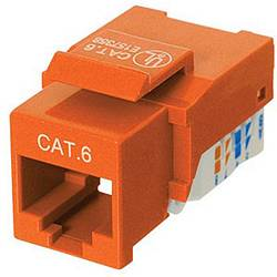 Ziotek CAT6 Network (RJ45) Keystone Jack, Tool-Free, Orange ZT1800328