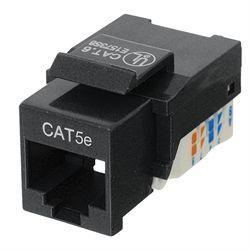 Ziotek Cat 5e Keystone Jack, Network RJ45, Tool-Free, Black ZT1800310