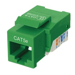 Ziotek Cat 5e Keystone Jack, Network RJ45, Tool Free, Green ZT1800312