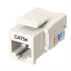 Ziotek Cat 5e Keystone Jack, Network RJ45, Tool Free, White ZT1800320