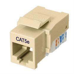 Ziotek RJ45 Cat5 / 5e Keystone Jack, Tool Free, Ivory ZT1800319