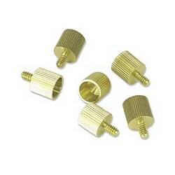 Ziotek Solid Brass CPU Case Thumbscrews 6 Pack ZT1610195