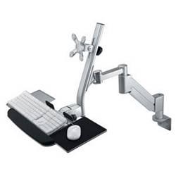 Ziotek Gas Spring LCD Arm w/Keyboard Holder, Desk or Wall ZT1110244