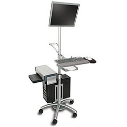 Ziotek Aluminum Mobile Computer Workstation Cart ZT1110388