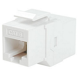 Ziotek CAT6 Inline Faceplate Coupler, White ZT1800583