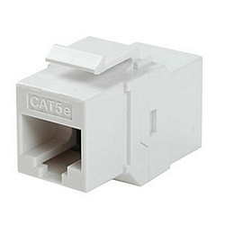 Ziotek CAT5e Inline Faceplate Coupler, White ZT1800584
