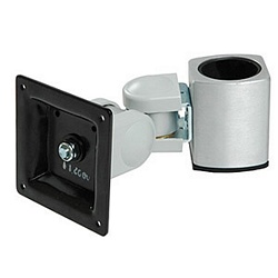 Ziotek Monitor Swivel Mount for Post, w/Adapters, Up to 30lbs ZT1110363