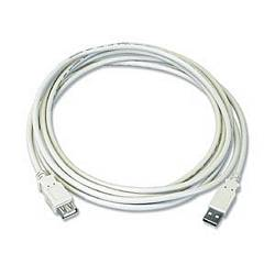 Ziotek 6ft. USB 2.0 Type A Male to Female Extension USB Cable, Beige ZT1310785