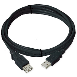 Ziotek 6ft. USB 2.0 Type A Male to Female Extension USB Cable, Black ZT1310166