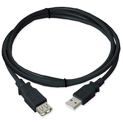 Ziotek 3ft. USB 2.0 Type A Male to Female Extension USB Cable, Black ZT1311033