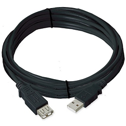 Ziotek 15ft. USB 2.0 Type A Male to Female Extension USB Cable, Black ZT1311036